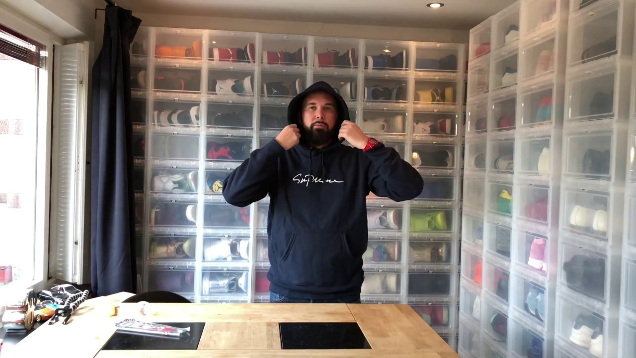 9182e66a Unboxing : Supreme Classic Script Hooded Sweatshirt - YouTube