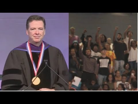 AS COMEY WAS ABOUT TO GIVE A SPEECH TODAY HE SAW HIS WORST NIGHTMARE!