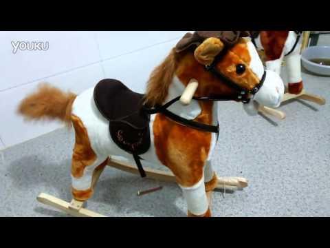 Children's musical rocking horse toy horse