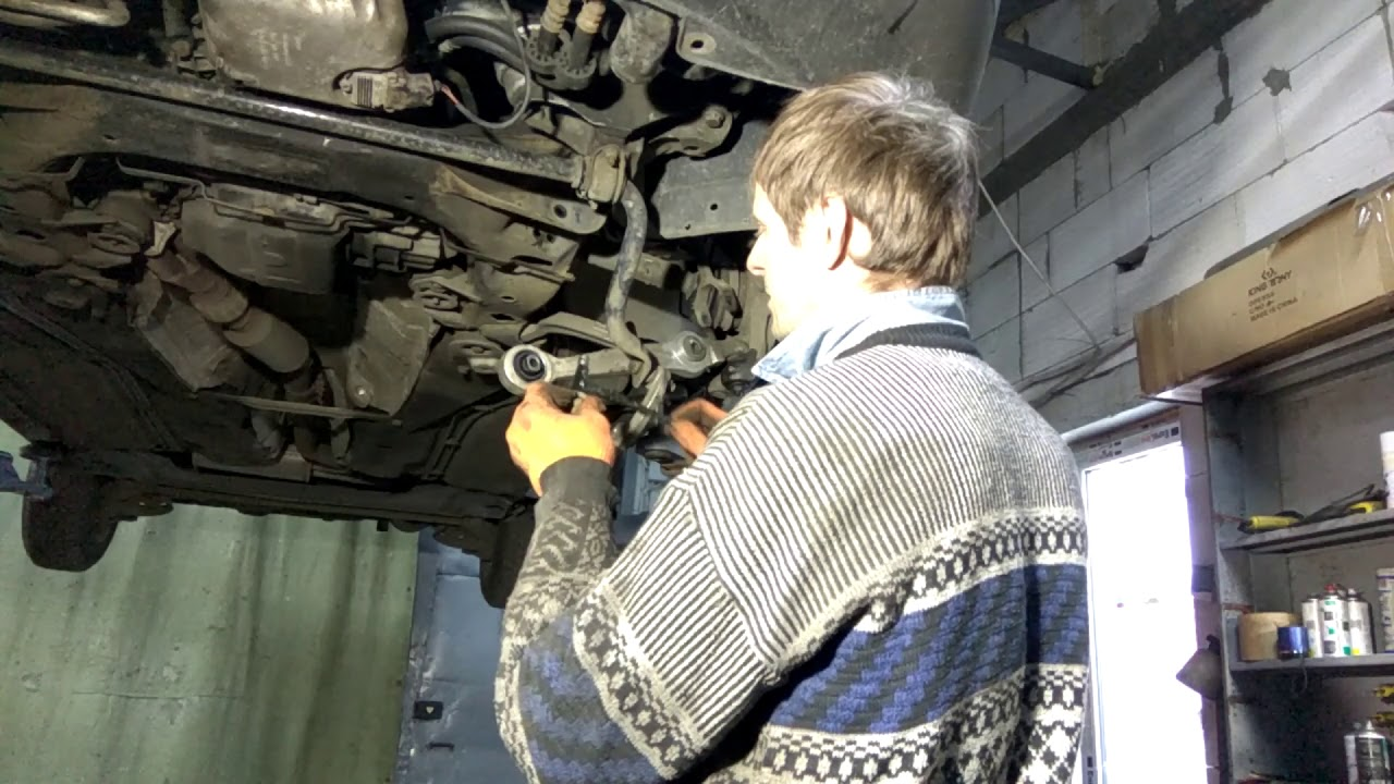 volkswagen passat b5 ремонт рычага, замена и выприсовка сайлентблока.