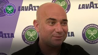 Wimbledon 2017 - Andre Agassi discusses Novak Djokovic and more