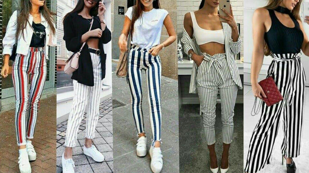 Outfits Pantalones Con Rayas Lindas Vanidosas Youtube