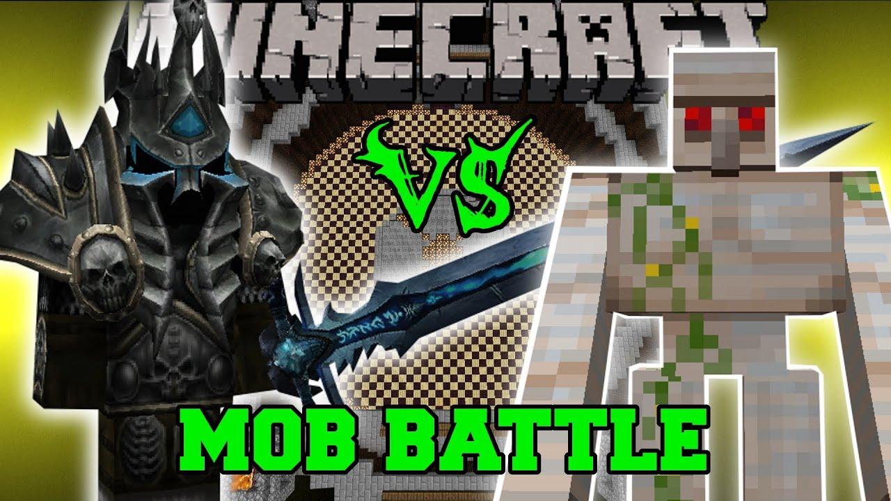 Lich King Vs Mutant Iron Golem Minecraft Mob Battles Psycraft Mods Youtube