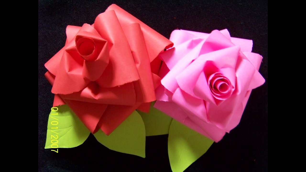 How to make realistic and easy paper roses (complete tutorial)/alsa kazmi  arts