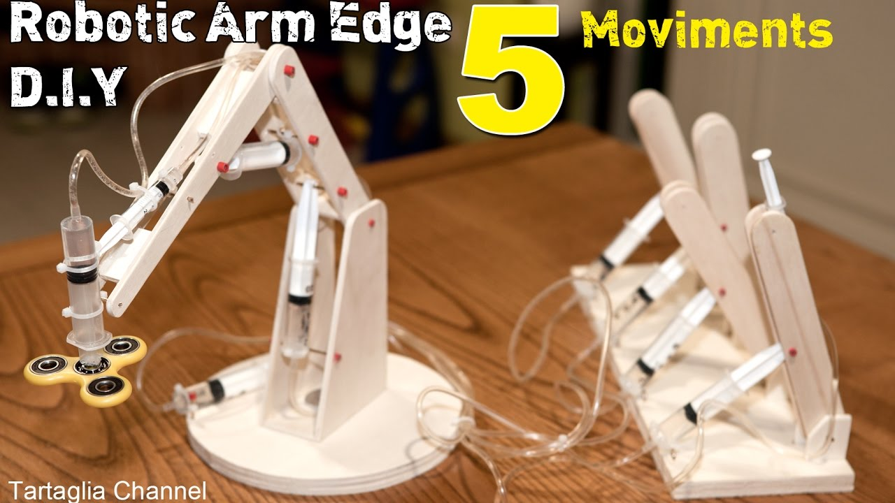 Hydraulic Powered Arm : Amazing how to make syringhe hydraulic robotic arm