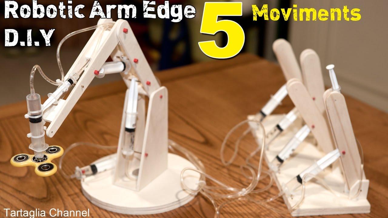 Wood Hydraulic Arm : Amazing how to make syringhe hydraulic robotic arm