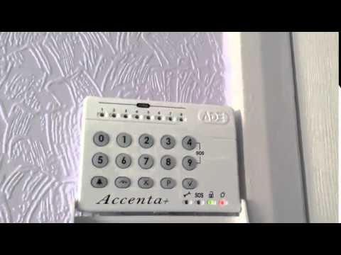 burglar alarm ade accenta features youtube rh youtube com accenta alarm operating manual accenta intruder alarm user manual