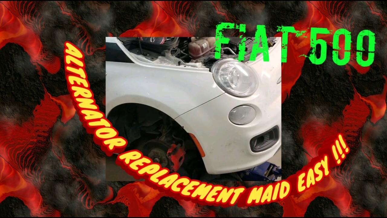 Fiat 500 Alternator Replacement EASY !!! 2012