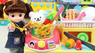 콩순이 라면 요리사 가게 장난감 주방놀이 요리놀이 Baby doll kitchen food cooking toys