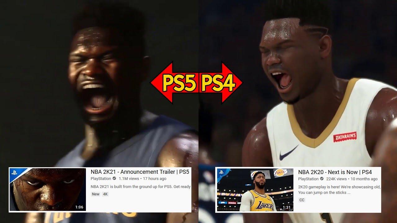 Official Trailer Graphics Comparison NBA 2K21 PS5 vs NBA ...