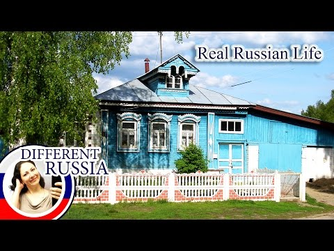 Inside Real Russian Village. Why Are Traditional Russian Houses So Small?