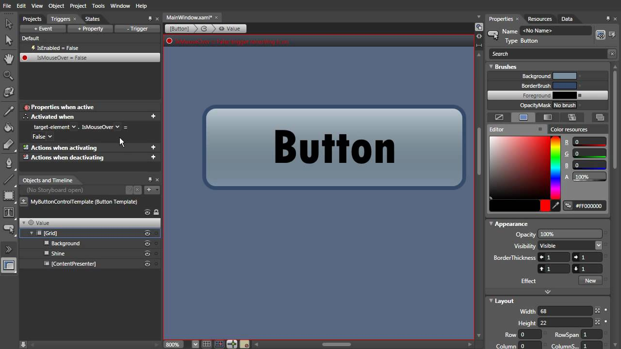 WPF Styling Tutorial #1 - Button (Test)