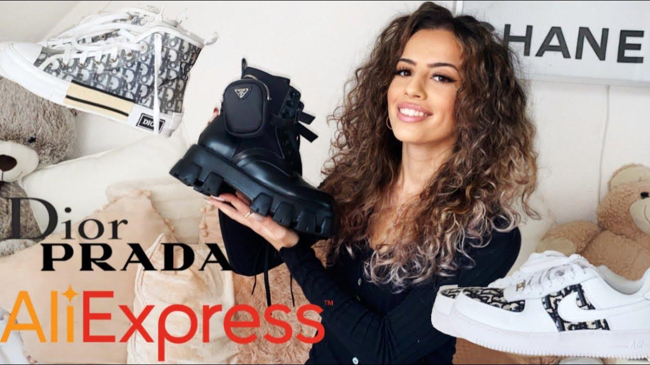 Aliexpress Luxury Haul ✗ Dior Nike Sneakers Prada Boots ✗ Demiana