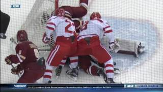 Boston College vs. Boston University - 2017 Hockey East Semifinal Highlights