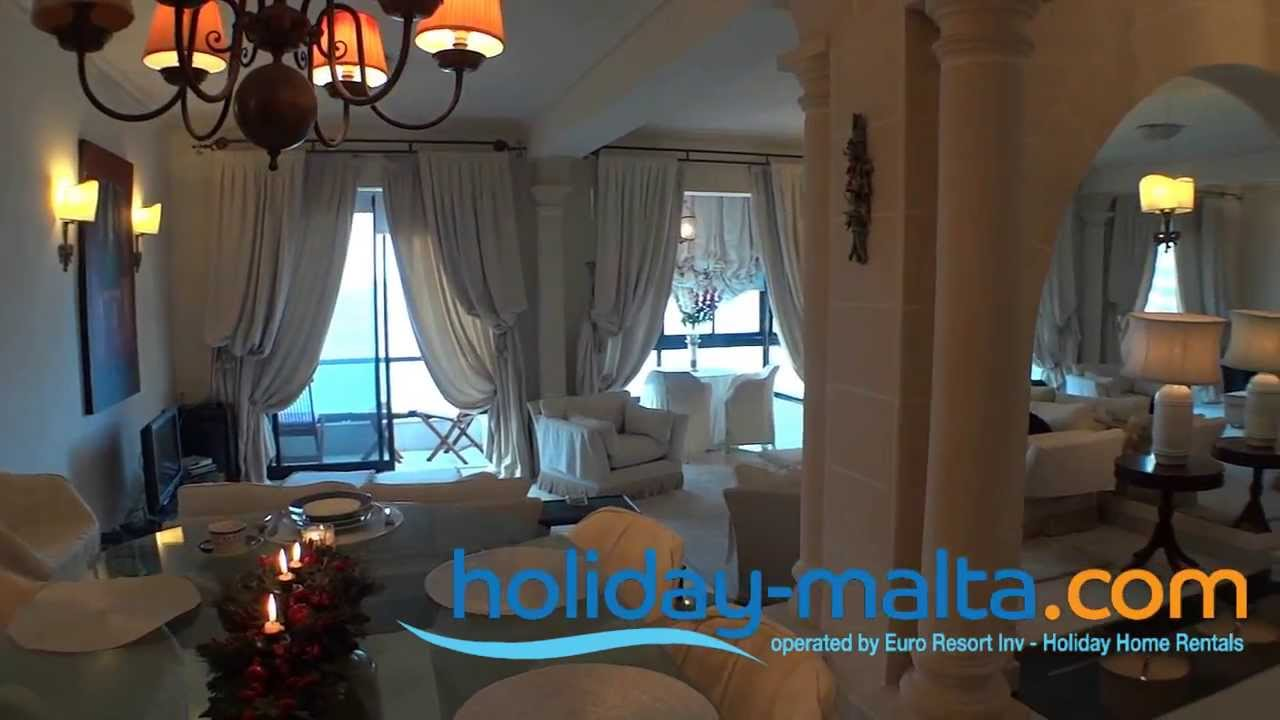 Malta Apartment In Sliema To Rent, Qui Si Sana, Holiday Rentals (R0357)    YouTube