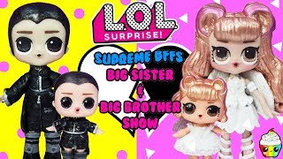 LOL Surprise BIG SISTER & BIG BROTHER SHOW Leather & Lace Supreme BFFs