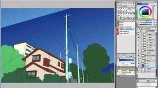 Step 01-06 下塗りと彩色の確認―IllustStudio 風景 テクニック