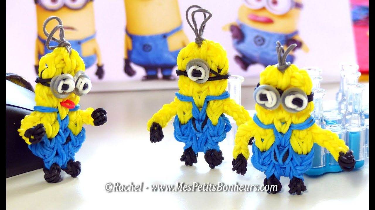 Tuto rainbow loom minions de despicable me ou moi moche et m chant youtube - Mechant minion ...