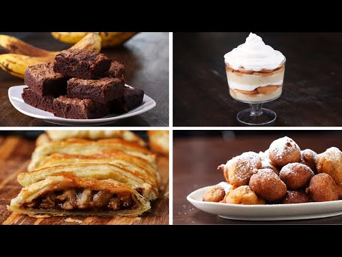 Download Youtube: 4 Desserts To Make With Ripe Bananas