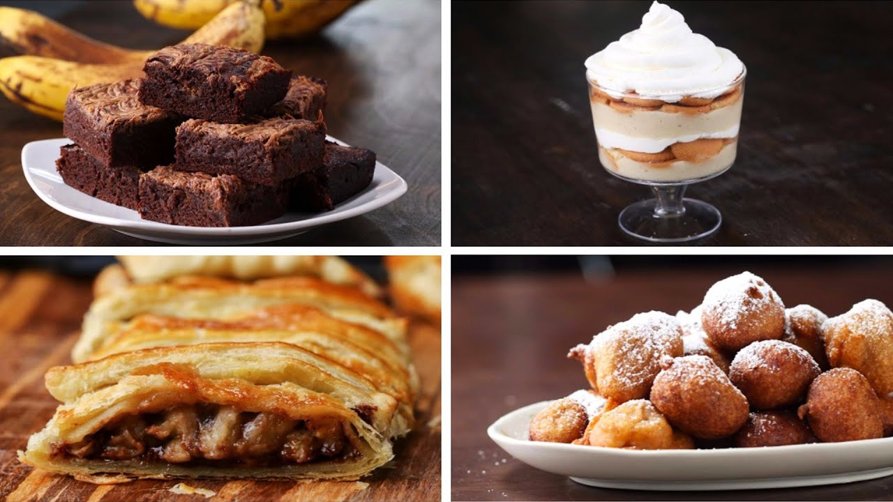 4 Desserts To Make With Ripe Bananas Youtube