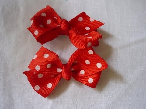 Como Hacer Par Moños Elegantes,How to make elegant bows