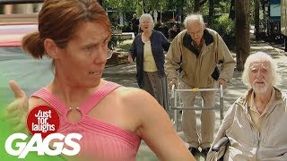 Epic Old Man Traffic Jam Prank - Just For Laughs Gags thumbnail