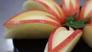 リンゴの簡単な飾り切り