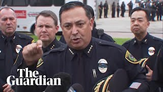 Houston police chief criticises politicians and NRA after officer death