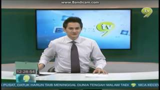 Berita TV9 at 12:00 pm - last news item about Nicol Ann David and closer 25.1.2014