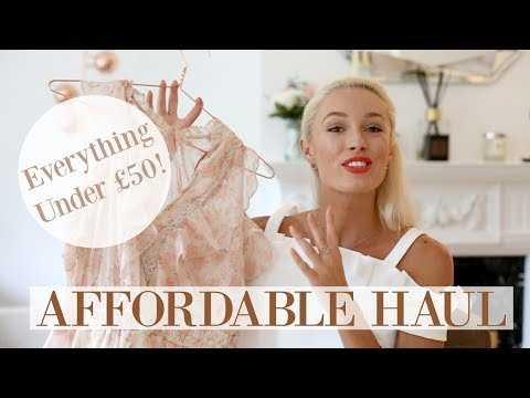AFFORDABLE FASHION HAUL  |  Highstreet Under £50 - New Look, Miss Selfridge, Boohoo