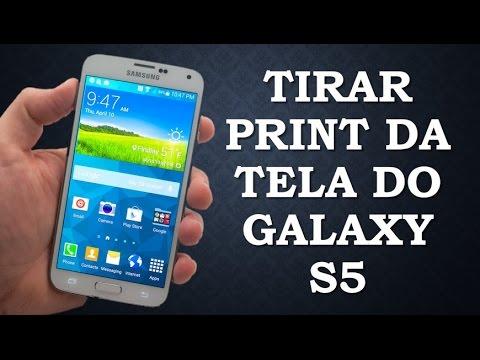 Como tirar print screen no Galaxy S5