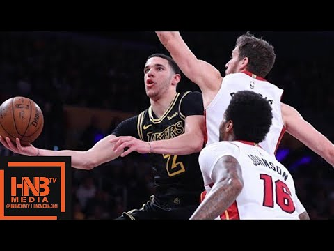 Los Angeles Lakers vs Miami Heat Full Game Highlights / March 16 / 2017-18 NBA Season