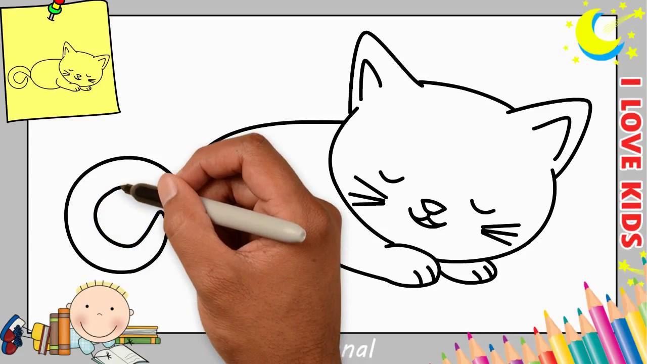 katze zeichnen leicht