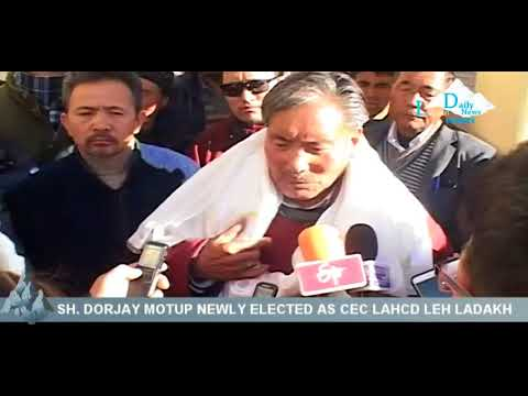 BJP  lead  LAHDC  LEH elected new 7th  Chairman and Chief Executive Councilor Sh.  DORJAY MOTUP