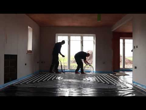 Flowing Screed and Underfloor Heating Install