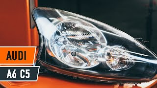 How to replace a headlight on AUDI A6 C5 TUTORIAL | AUTODOC