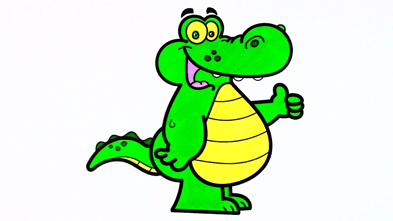 How To Draw Alligator, Doctor |Coloring Book for Kids ...