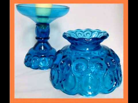 Cobalt Blue Moon with Stars 3 Piece Candle Lamp Fenton Glass & what is it worth?