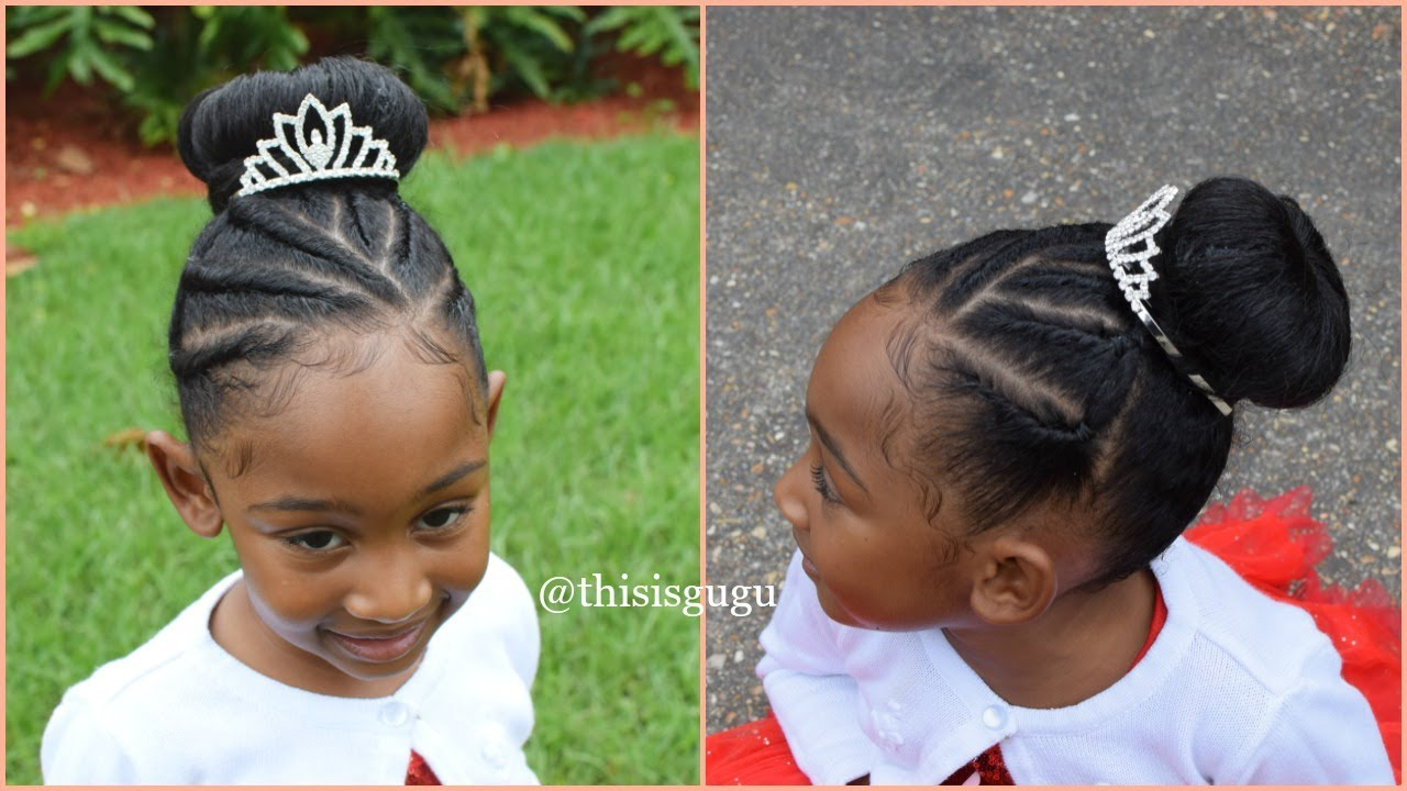 kids natural hairstyles: flat twists and bun (easy natural hairstyle)