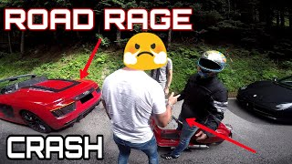 ROAD RAGE   Stupid Scooter Driver CRASHES Into a NEW Audi R8!   ANGRY GUY