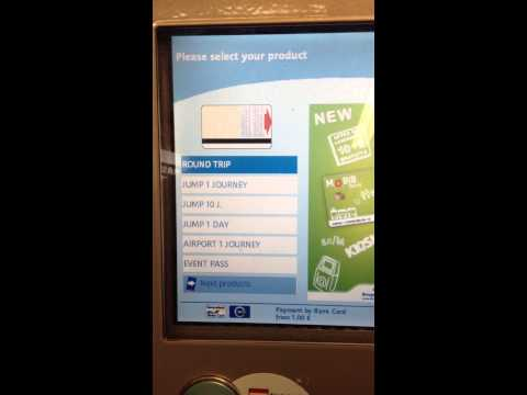 How to use the STIB Ticket Machine