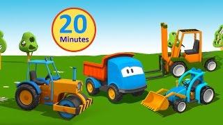 Compilation Cartoni Animati per bambini: Leo il Camion Curioso gioca con le ruspe