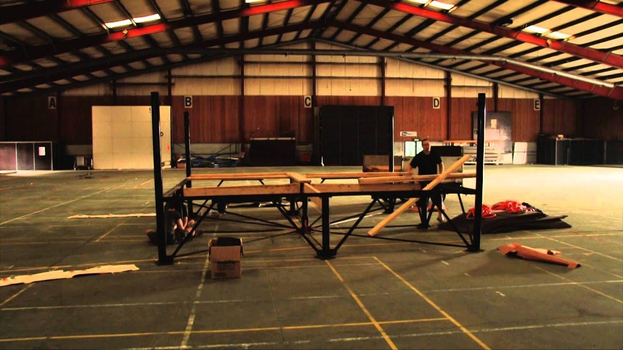 Wrestling Ring In Warehouse