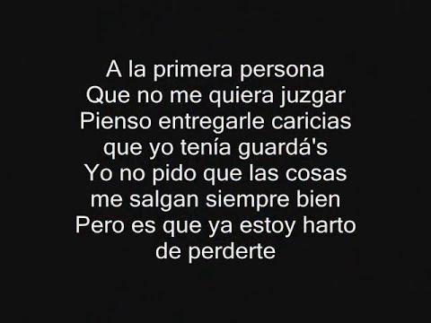 A La Primera Persona - Alejandro Sanz - CON LETRA