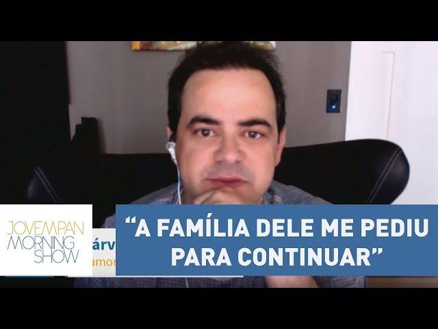 """""""A família dele me pediu para continuar"""", diz Carioca sobre imitação de Marcelo Rezende"""
