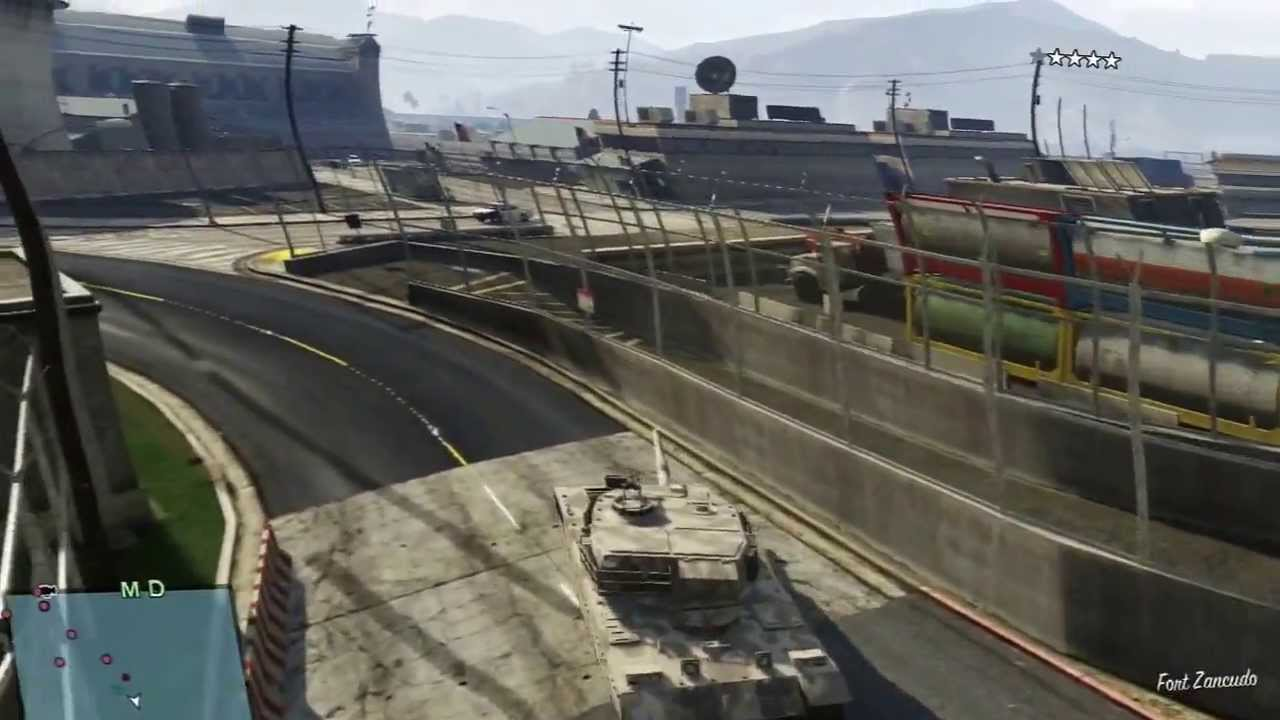 how to get a tank on gta v