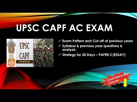 CAPF AC 2017 (Day1):  Expected topics for essay, Essay Approach, Preparation Material