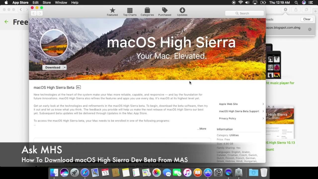 mac app store download high sierra