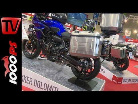 GIVI - Gepäcksystem Trekker Dolomiti und Helm X-Fiber 40.5 2017 - Preise- Verfügbarkeit