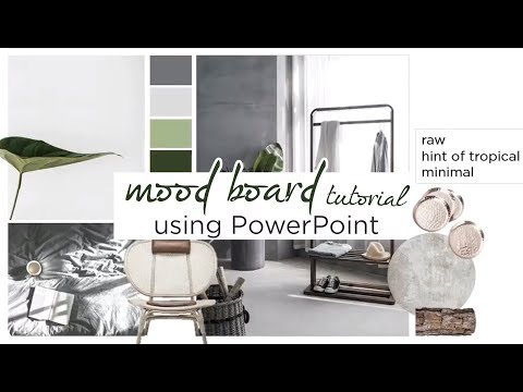 How To: Create An Interior Design Mood Board Using Powerpoint | Tutorial | Aseelbysketchbook